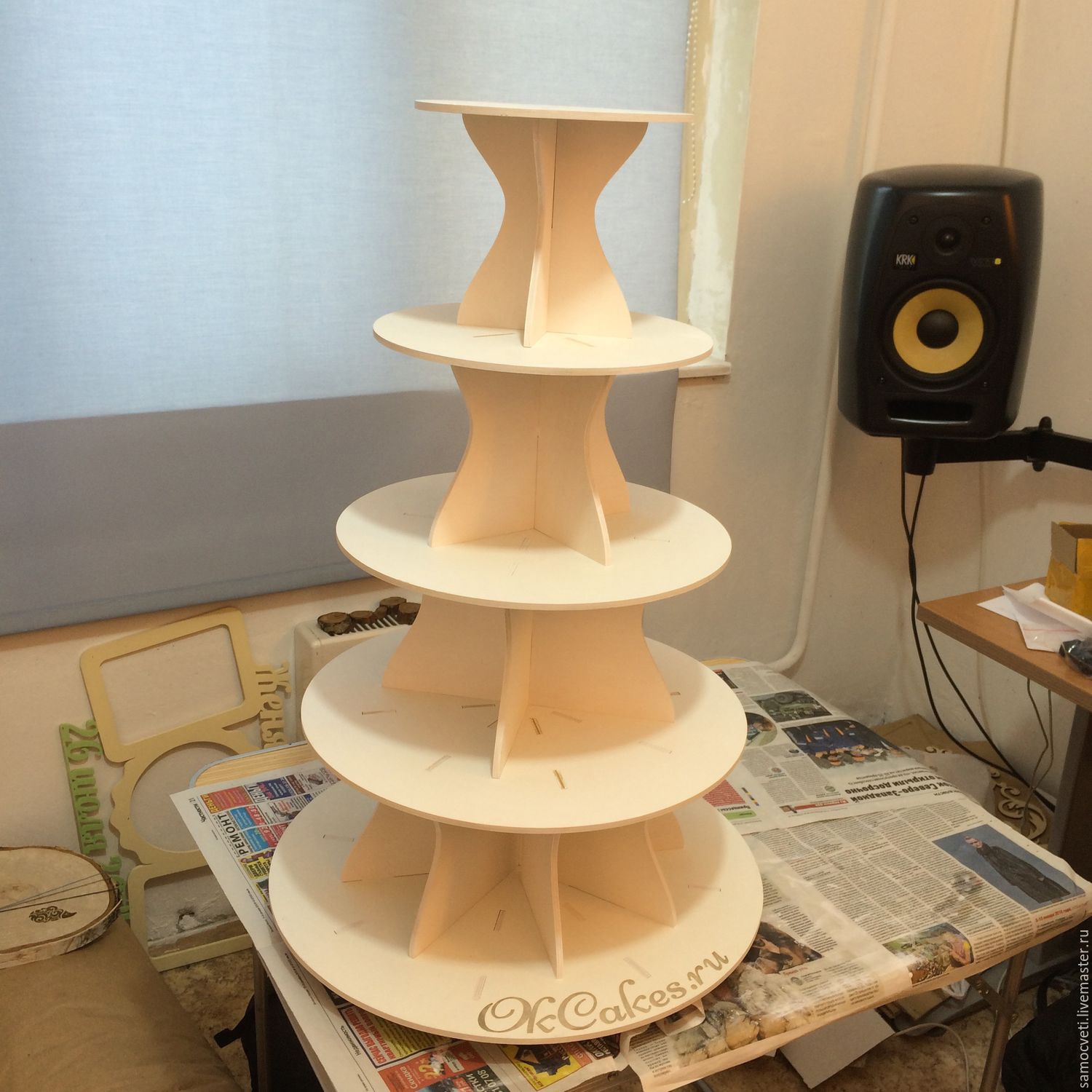 Laser Cut Multi Tier Cake Stand 4mm Free Vector