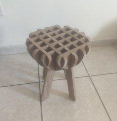 Laser Cut Wooden Stool DXF File