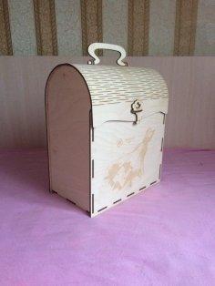 Laser Cut Wooden Treasure Box Free Vector
