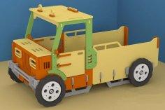 Laser Cut Truck Free Vector