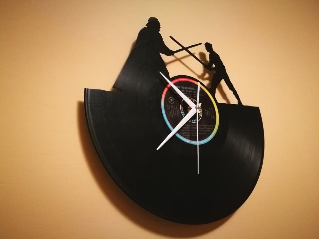 Orologio Vinile Clock Star Wars dxf file