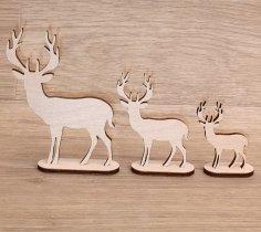 Laser Cut Fawn Deer Christmas Ornament Free Vector