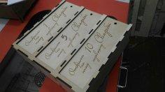 Laser Cut Personalised Triple Wine Box 3 Bottle Gift Box Slide Lid Free Vector