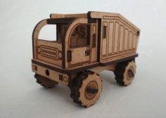 Laser Cut Toy Dump Truck Free Vector