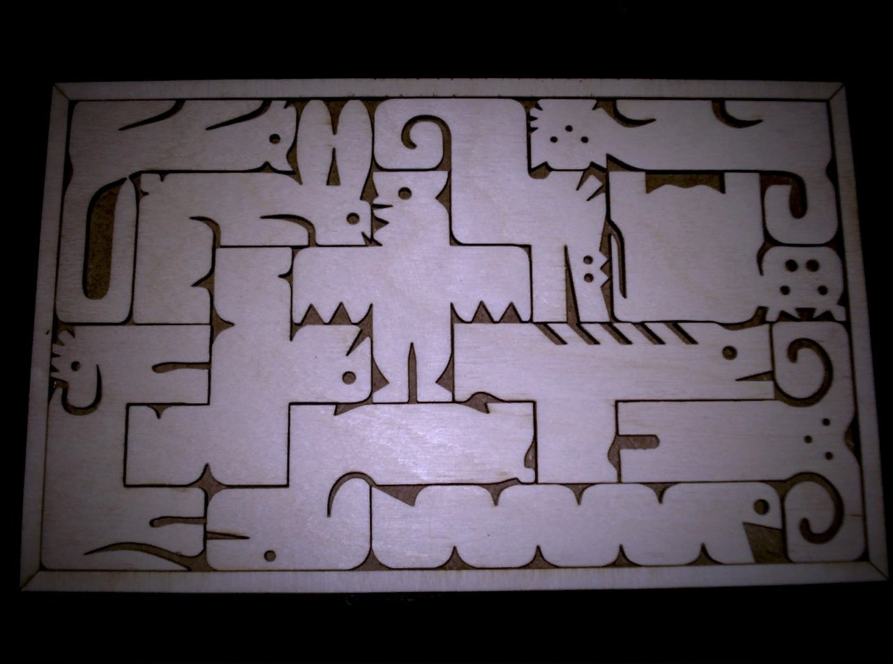 Laser Cut Animals Puzzle Toy For Kids Free Vector