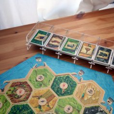 Laser Cut Catan Card Holder Catan Organizer 1/8″ Acrylic Free Vector