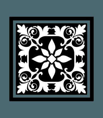 Decorative Square Ornament Tile Art DXF File