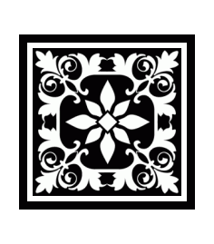 Decorative Square Ornament Tile Art DXF File