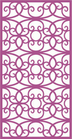 Laser Cut Vector Panel Seamless 296 Free Vector