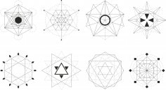 Sacred Geometric Set Free Vector