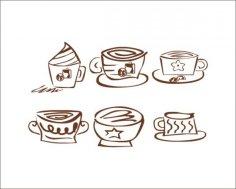 矢量咖啡标识 Free Vector