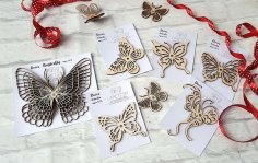 Decor Butterfly CNC Laser Free Vector