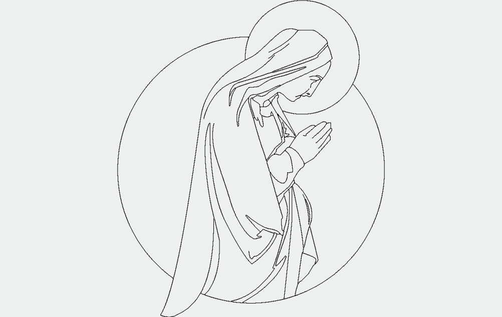Virgin-mary dxf File