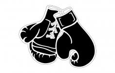 Boxing Gloves 1 dxf File