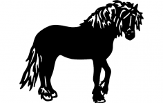 Draft Horse dxf File