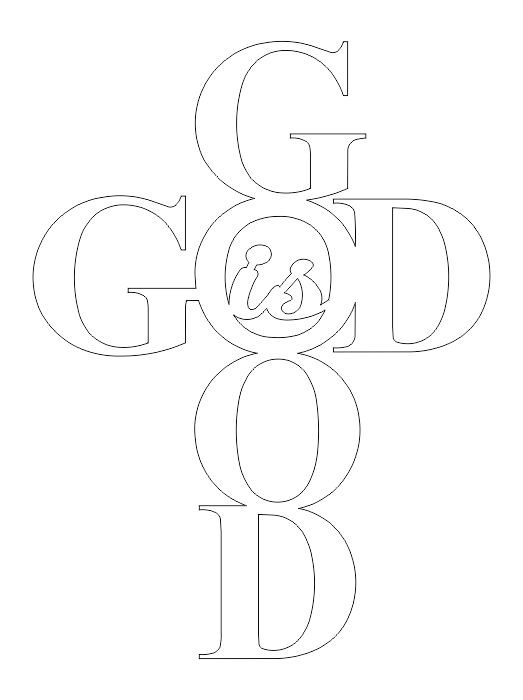 God Is Good 10 X 7.5 DXF File