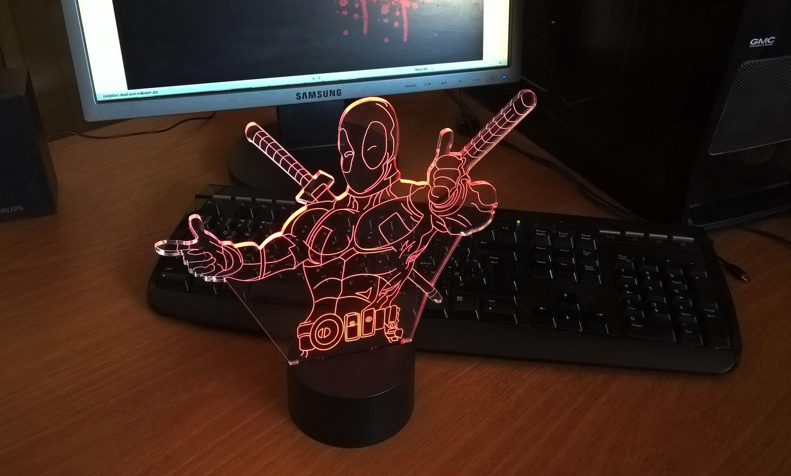 Deadpool Night Light Free Vector