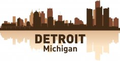 Detroit Skyline Free Vector