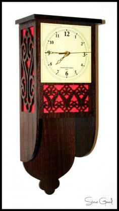 Fretwork Clock DXF File