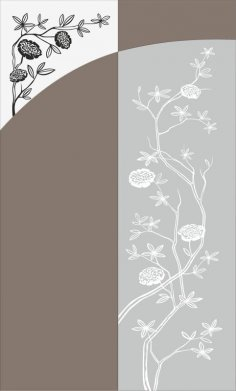 Flowers Bush Sandblast Pattern Free Vector
