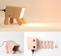 Go Nature 9 Creative And Cool Wooden Lamp Designs CDR File
