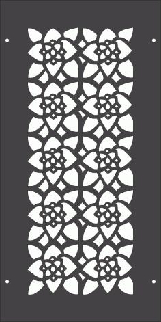Floral Pattern Separator DXF File