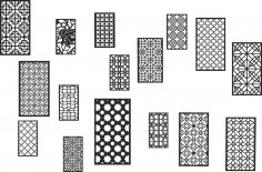 Collection Black White Geometric Seamless Patterns Free Vector