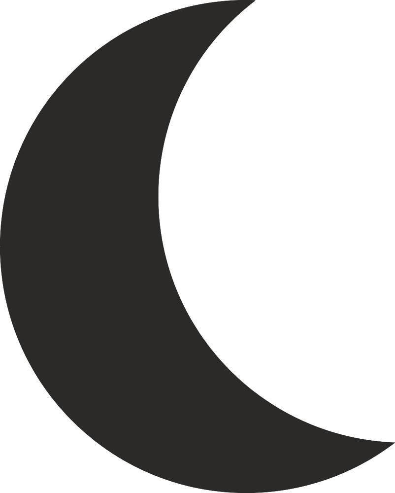 Moon Silhouette Vector dxf File