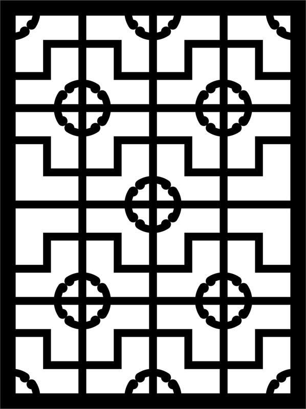 Laser Engraving Pattern lace design dxf File