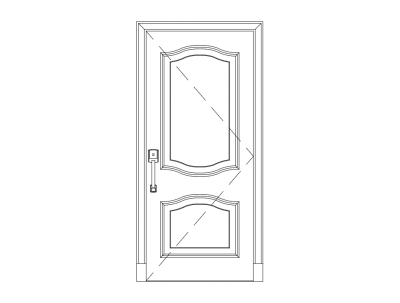Wooden door 13 dxf File