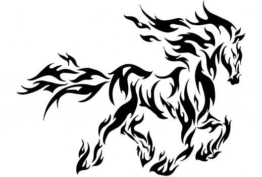 Koń dxf File