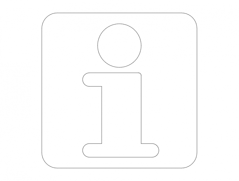 Info Road Sign dxf File