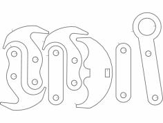 Grapel Hook dxf File