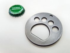 Paw Print Bottle Opener dxf File