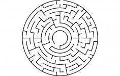 Circular maze dxf File