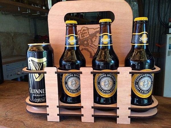 Laser cut beer holder 8 pack DXF File