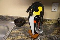 Penguin Shaped Mini-bar CNC Puzzle Pattern CDR File