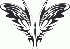 Tribal Butterfly Vector Art 26 DXF File