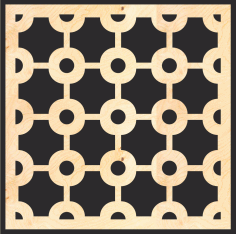 Decorative Wood Lattice Panels Pattern Free Vector