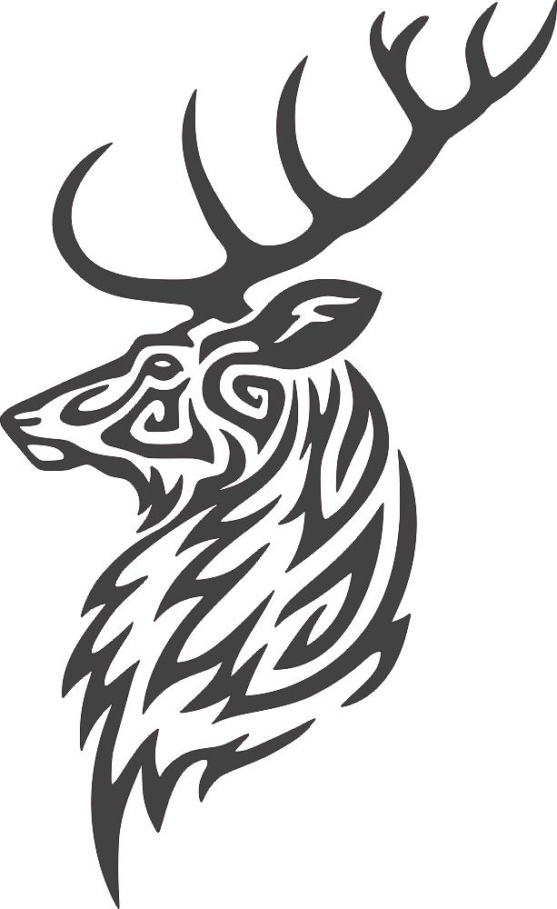 Buck Deer Head DXF File