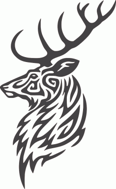 Buck Deer Head DXF File