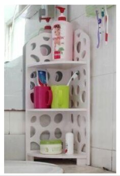 Laser Cut Rack Shelf for Bathroom Free Vector