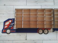 Laser Cut Shelf Truck Free Vector