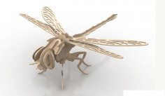 Dragonfly Insect 3D Wood Puzzle 3mm DXF File