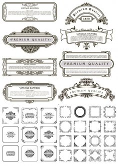Decorative Frames Free Vector Art Free Vector