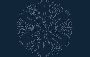 Flowery dxf file