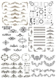 Element Decor Set Free Vector