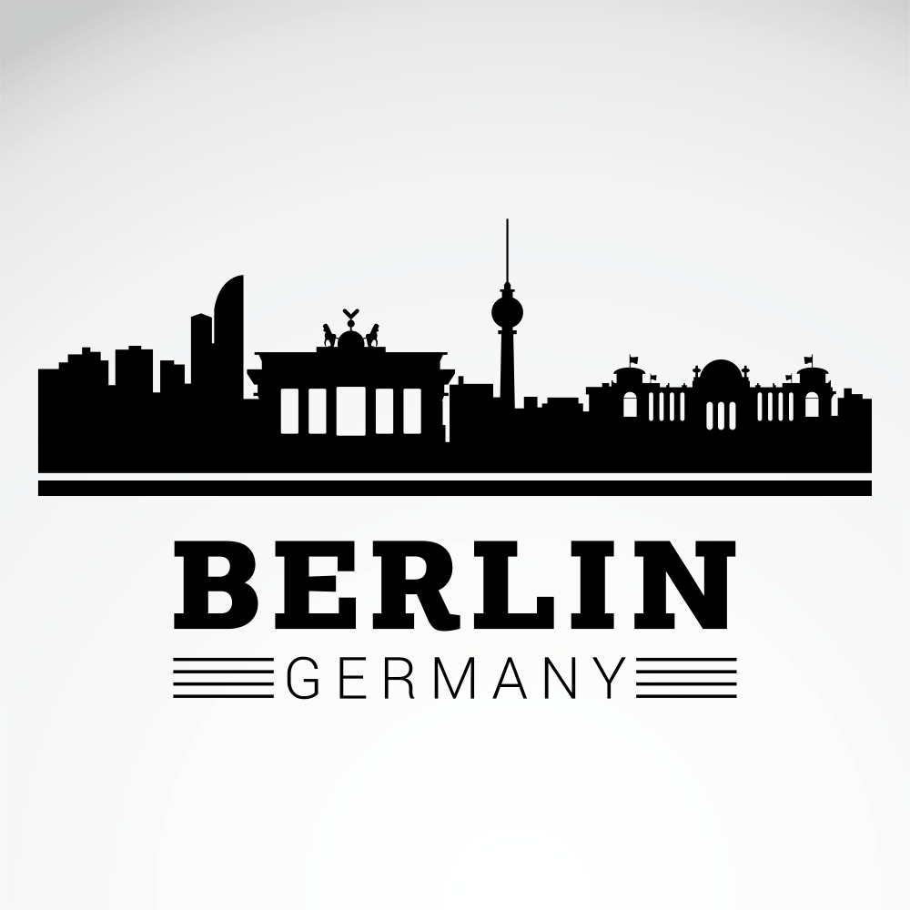 Berlin City Skyline Free Vector
