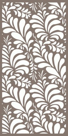 Floral Privacy Screen Pattern Free Vector