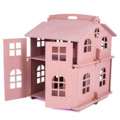 Laser Cut House Model For Kids Free Vector